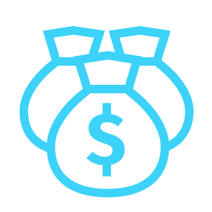 Lower transaction costs icon